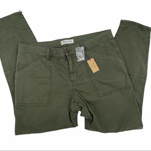 Madewell Olive Green Cargo Fatigues, Size 32  NWT